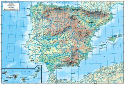 Definición de mapa físico - Qué es, Significado y Concepto