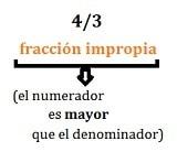 Fracción impropia