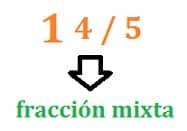 Fracción mixta