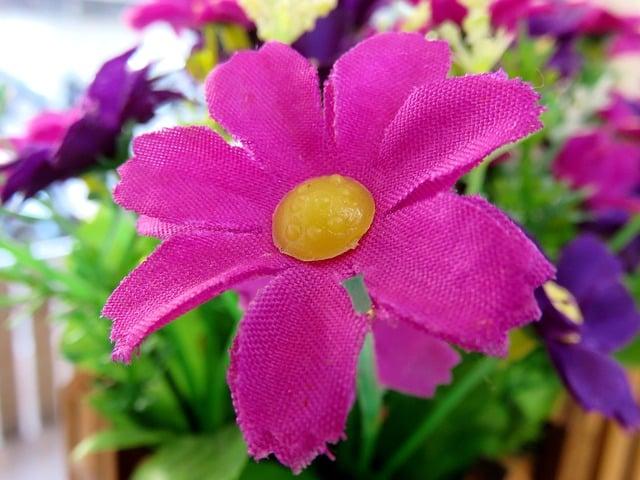 Inmarcesible flor de plástico