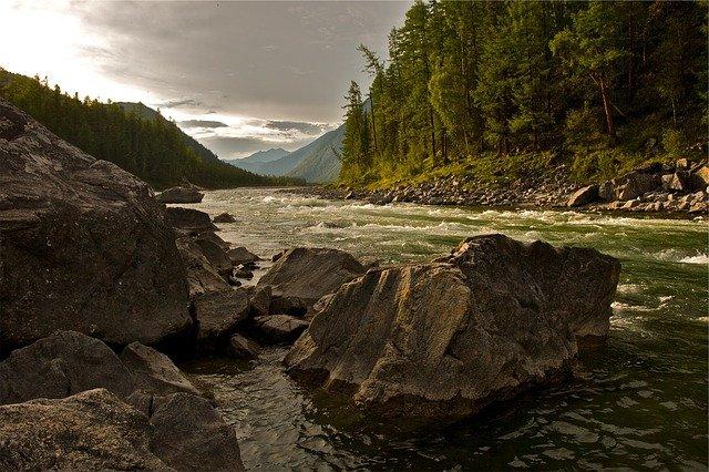 Agradación río