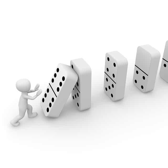 Derivar dominó