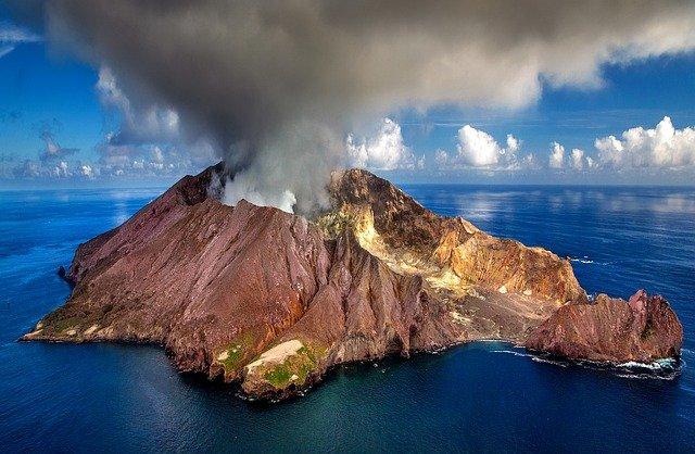 Vulcanología volcán isla